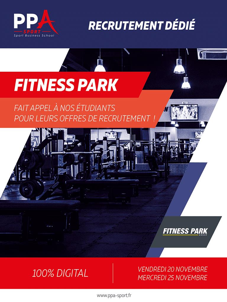 Affiche événement de recrutement PPA sport avec Fitness Park